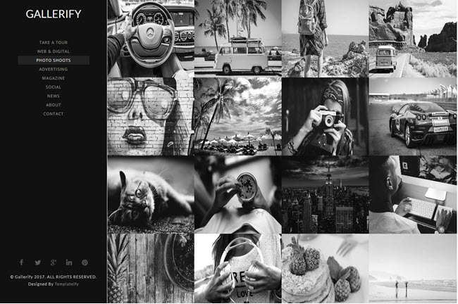 Gallerify - Responsive Gallery Blogger Template