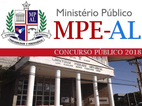 edital concurso do MPAL 2017 2018