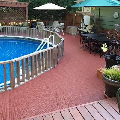 Greatmats outdoor pool deck tile perforated