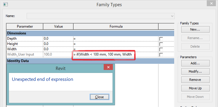 Revit Recess: Revit Families_Error Compilation