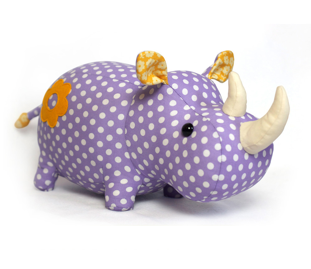 Toy Patterns by DIY Fluffies : Rhino stuffed animal pattern