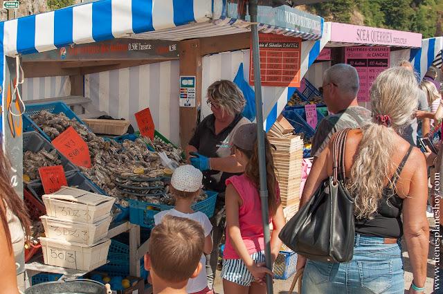 Mercado de las Ostras Cancale Bretaña viaje