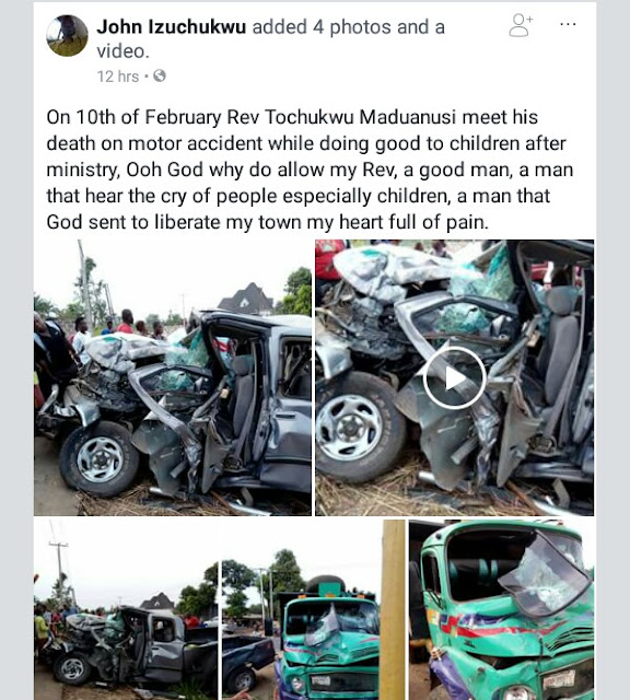 Sad! Commuters cry and touch the corpse of an Anglican priest killed in ghastly accident, begging him to wake up (photos/video)