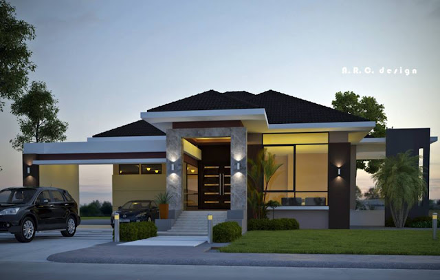 Contemporary house designs 2016 rendition bahay ofw for Elevated small house design