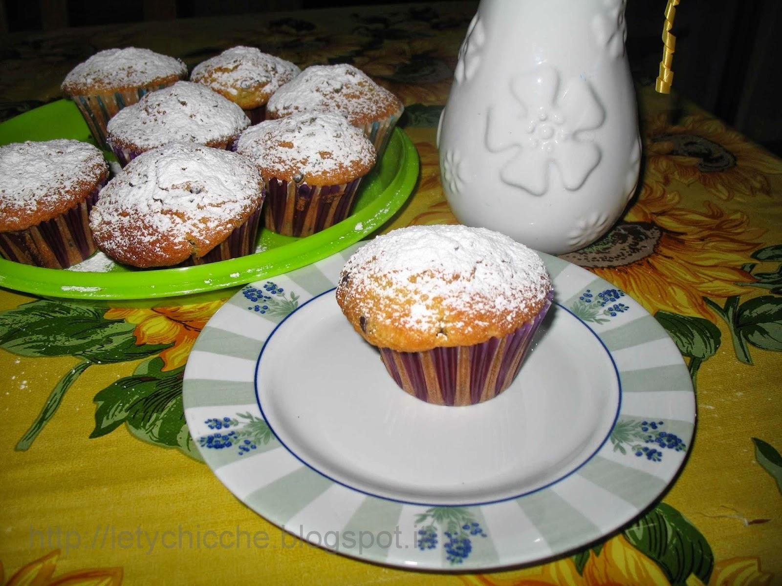 Muffin con gocce di cioccolato - Letychicche
