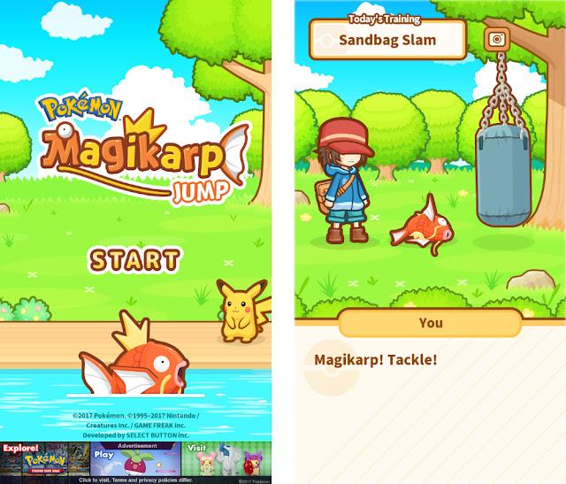 Pokemon: Magikarp Jump! Title Training