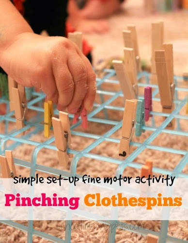 simple clothespins fine motor activity