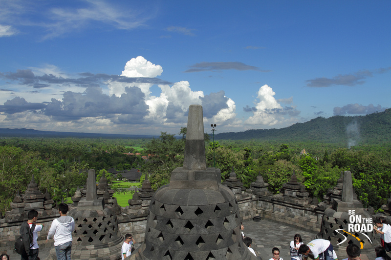 Bright day at Borobudur Temple, Indonesia