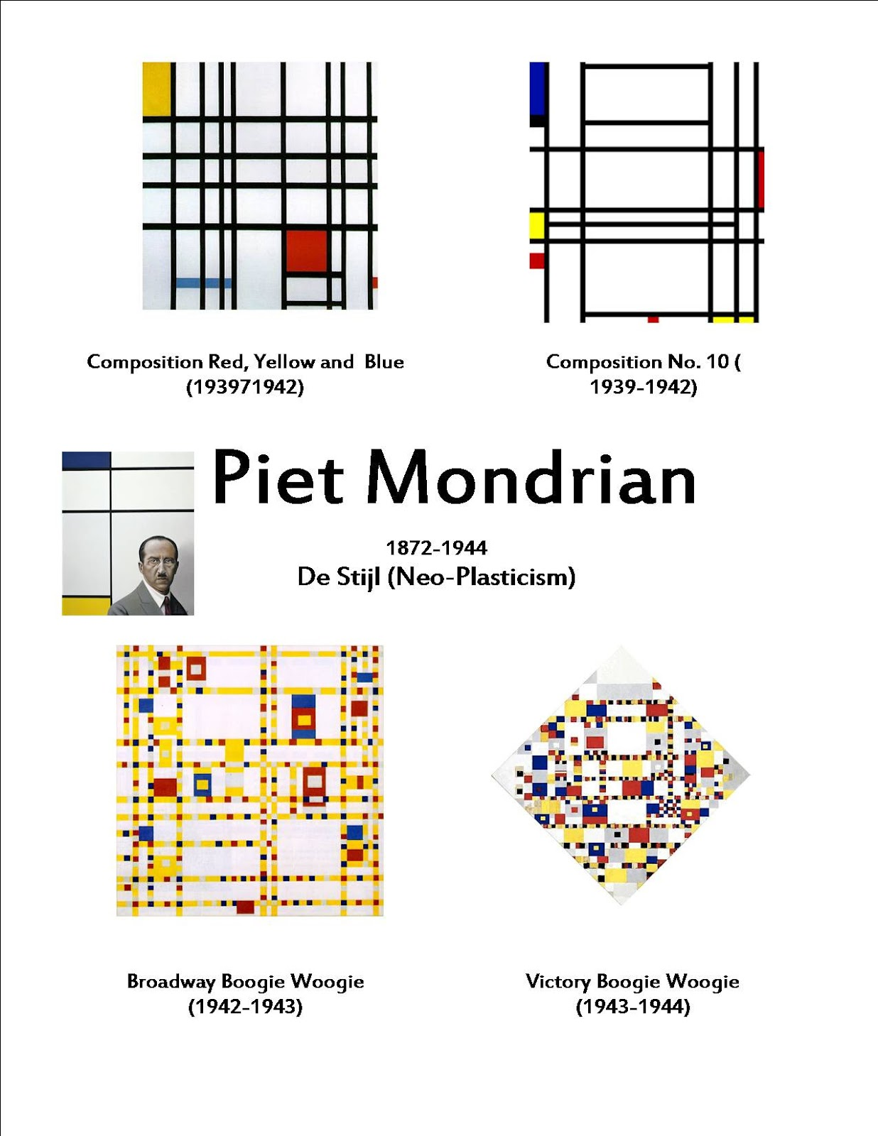 Training Happy Hearts Piet Mondrian And Easy Going Art