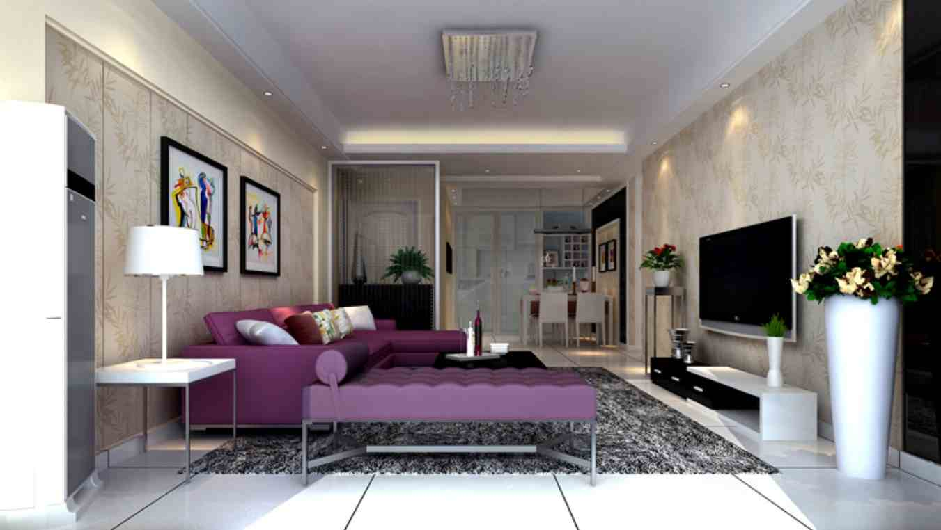 Purple Sofa for Living Room - Modern House Pictures