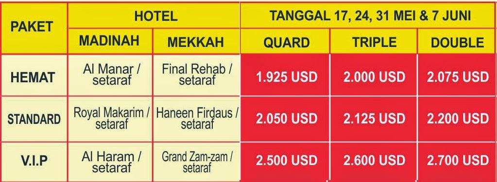 biaya paket umroh murah bulan mei juni 2015