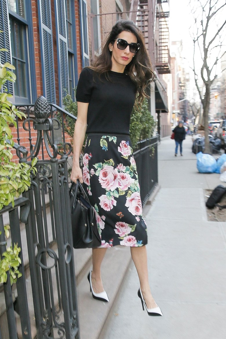 Amal Clooney nails floral chic out and about in NYC