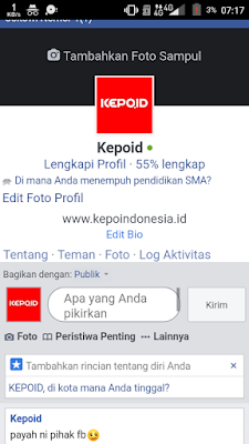 Log Aktivitas Facebook di Browser