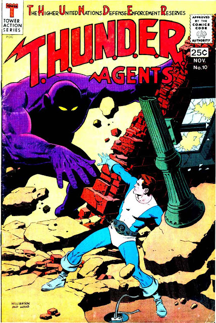 Thunder Agents v1 #10 tower silver age 1960s comic book cover art by Wally Wood, Al Williamson