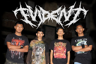 Evident Band Death Metal Bandung Foto Personil Logo Artwork Wallpaper