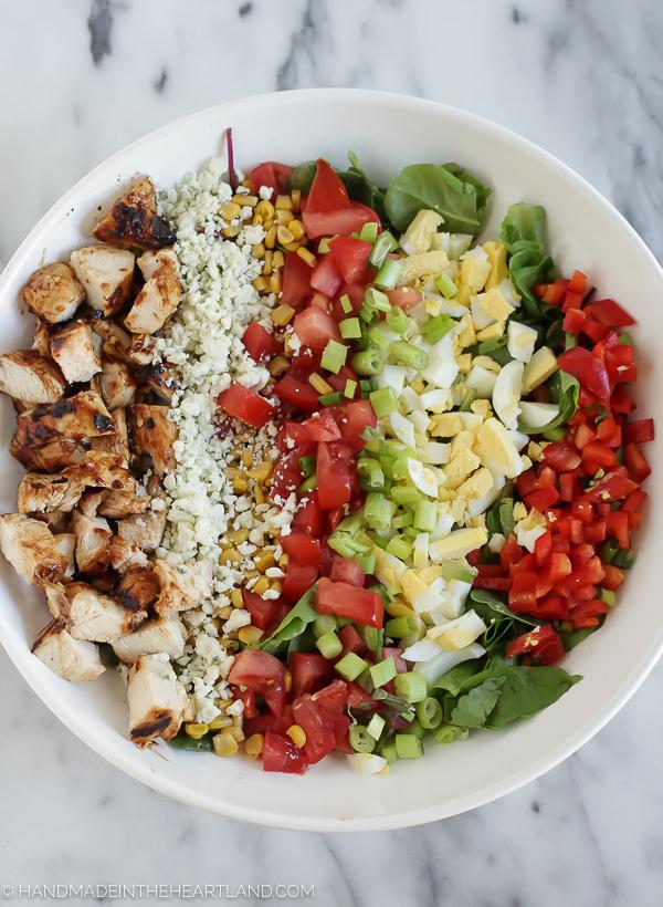 Easy Grilled BBQ Chicken Salad Recipe