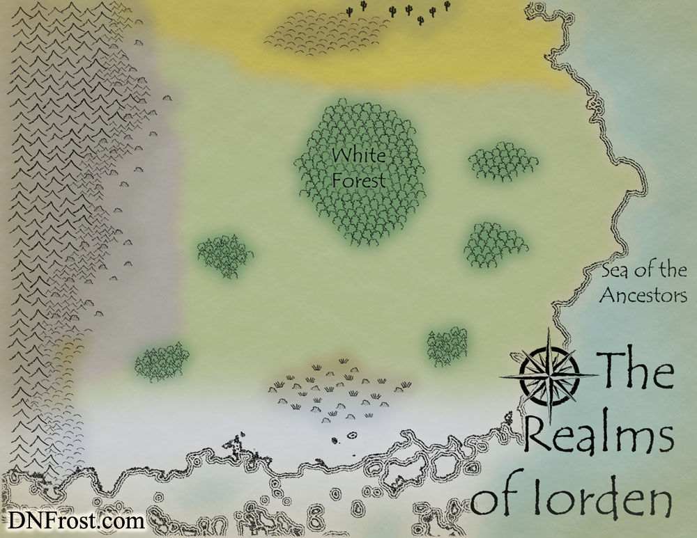 WIP Image: Topography of Iorden, a map commission by D.N.Frost for The Once and Future Nerd http://www.dnfrost.com/2016/08/topography-of-iorden-map-commission.html Part 2 of a series.
