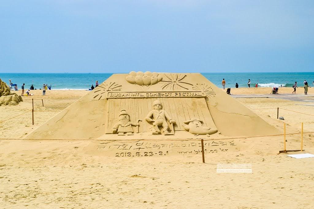 韓國釜山景點,海雲台海灘,釜山必玩景點,海雲台沙雕節,海雲台海水浴場