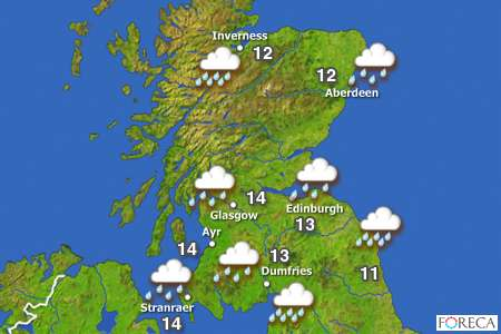 Weather Map Report.Cottarton Cottage The Weather Report For Scotland