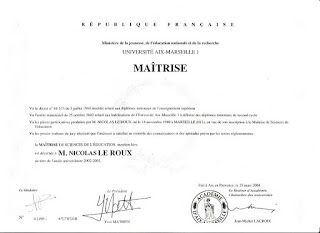 Maîtrise de Science de l'Education nationnale