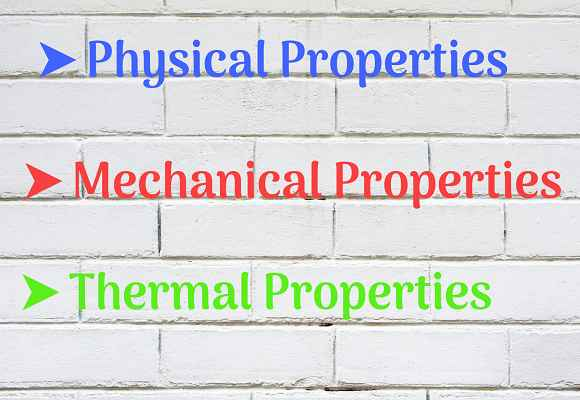 Properties of bricks