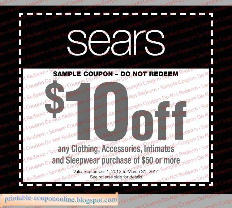 Sears discount coupon