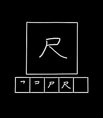 kanji shaku, scale
