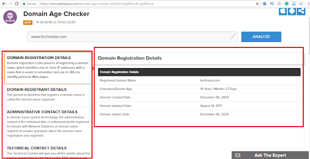 how to check website domain age