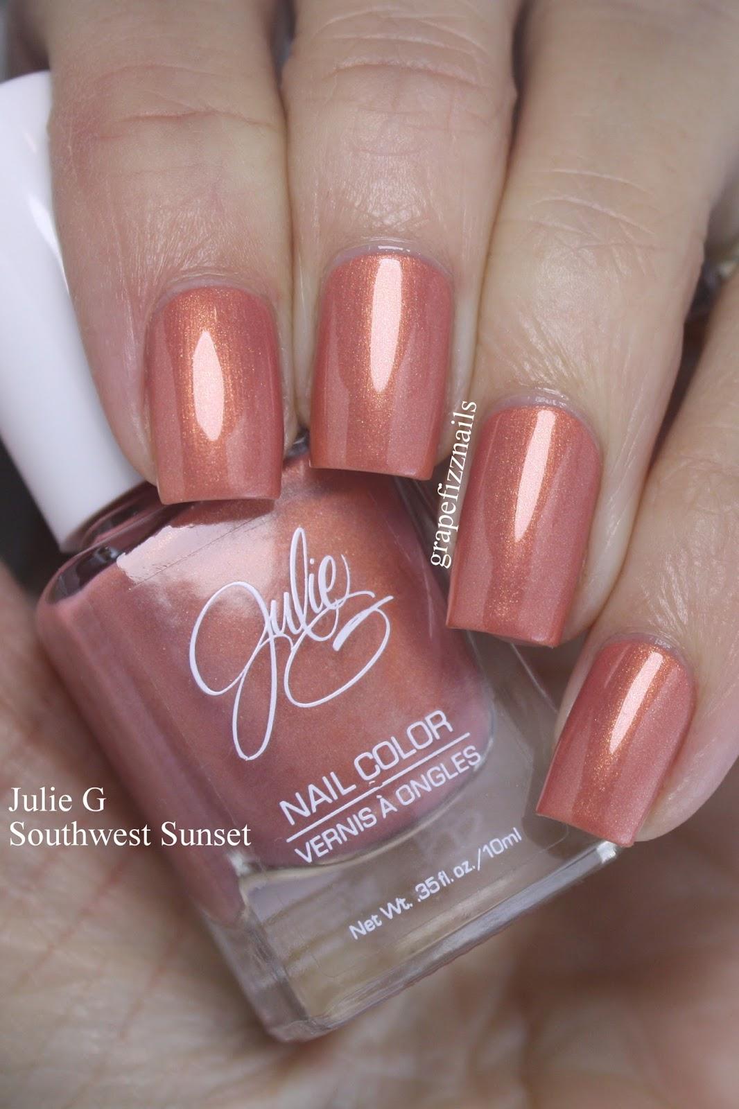 Grape Fizz Nails: Julie G Southwest Sunset