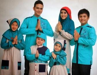 Baju keluarga muslim untuk lebaran