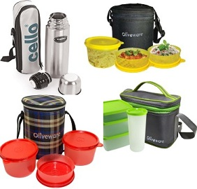 Extra Rs.100 Offon Oliveware & Cello Lunch Boxes & Flask @ Flipkart