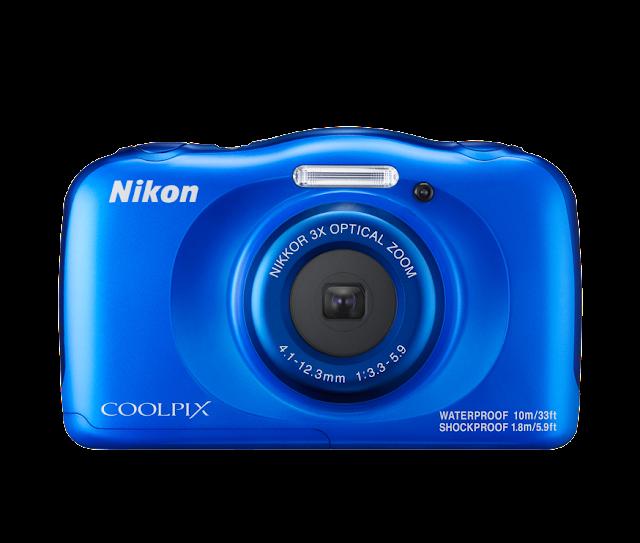 كاميرا نيكون Nikon Coolpix w100 بلون ازرق