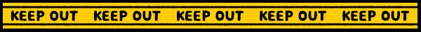 KEEP OUTテープのライン素材