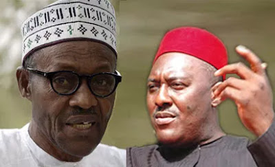 President Buhari and Olisa Metuh