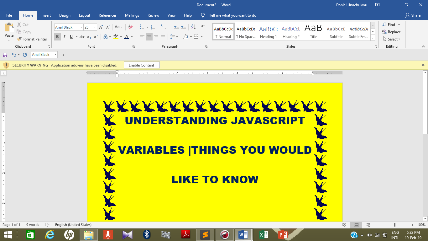 UNDERSTANDING JAVASCRIPT VARIABLES |THINGS YOU WOULD LIKE TO