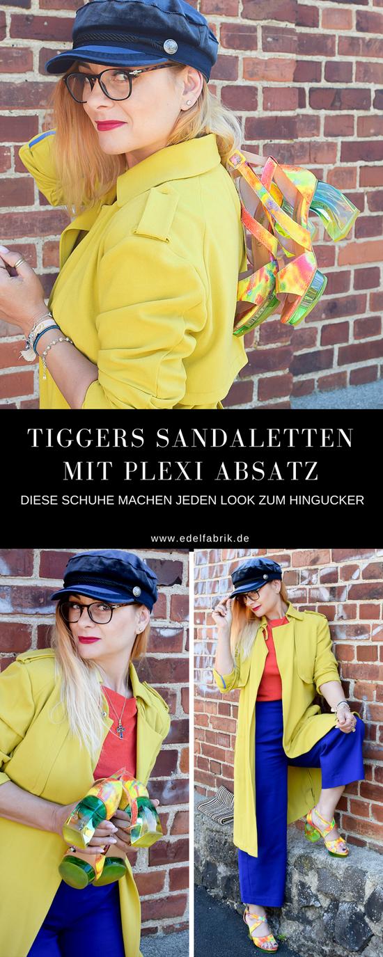Schuhe mit Plexiglas Absatz, Colorblocking Outfit, Modeblogger