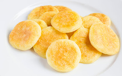 Chinese food - Salt cakes of potato and rice