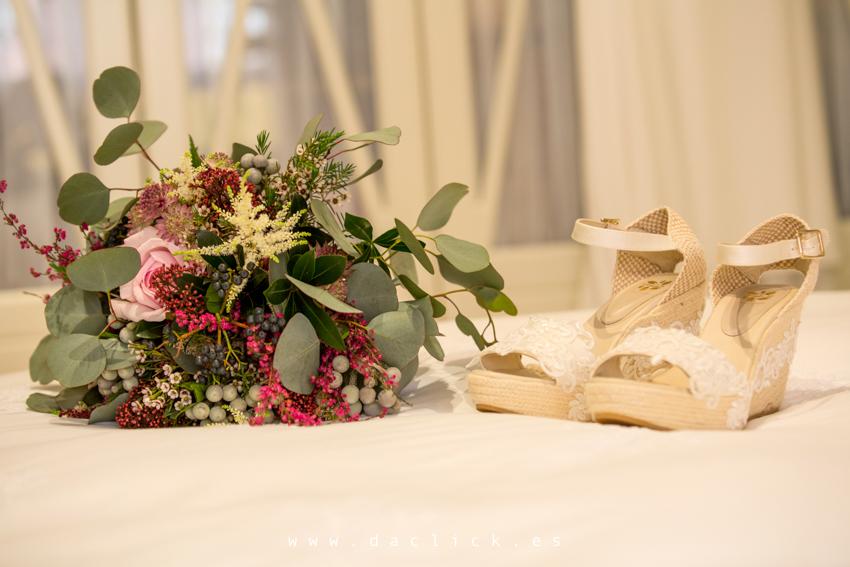 ramo zapatos novia