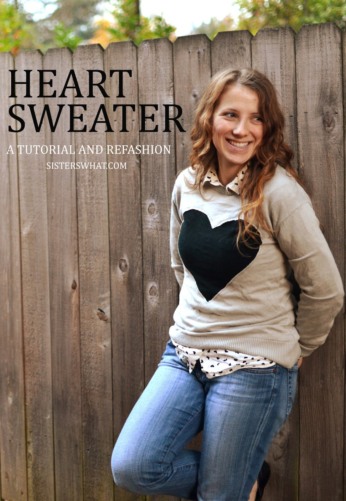 easy sweater refashion upcycle