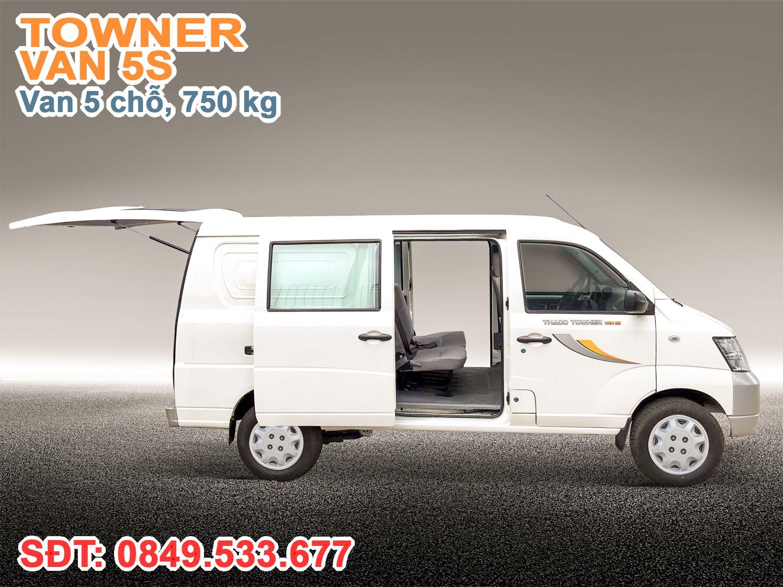 Xe thaco Towner Van 5S, Cửa sau xe Towner Van được trang bị ty hơi trợ lực, 2 cửa hông được thiết kế trượt thuận tiện và hạn chế chiếm dụng không gian thừa