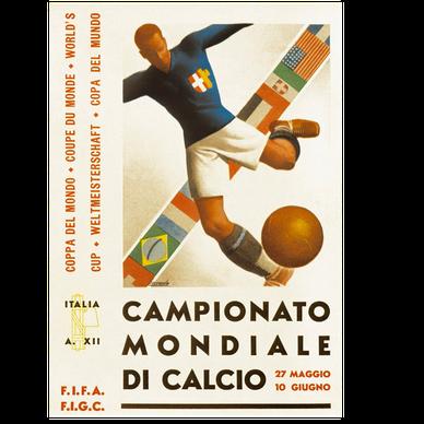 Logo Piala Dunia FIFA Tahun 1934 Italia