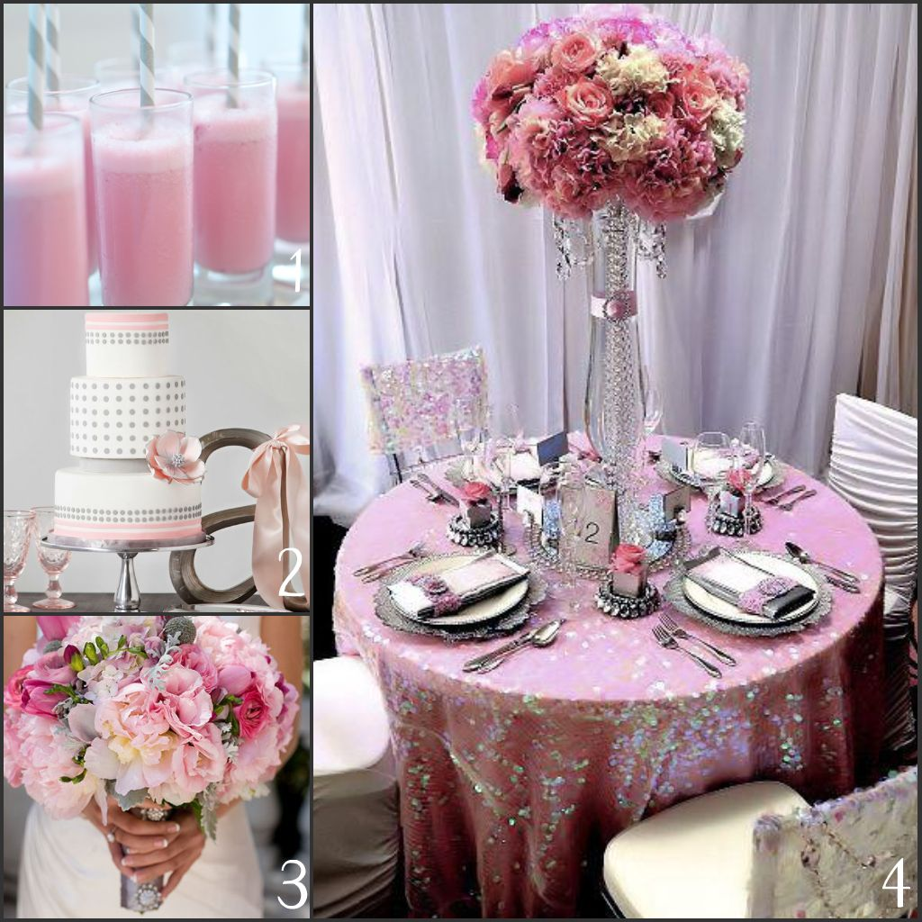 Enraptured Events: Pink And Grey Wedding Inspiration