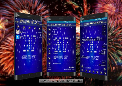 BBM MOD Happy New Year 2017 versi 3.2.0.6 Apk