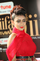 Apoorva in a Stunning Tight Leg Split Sleeveless Red Gown at IIFA Utsavam Awards 005.JPG