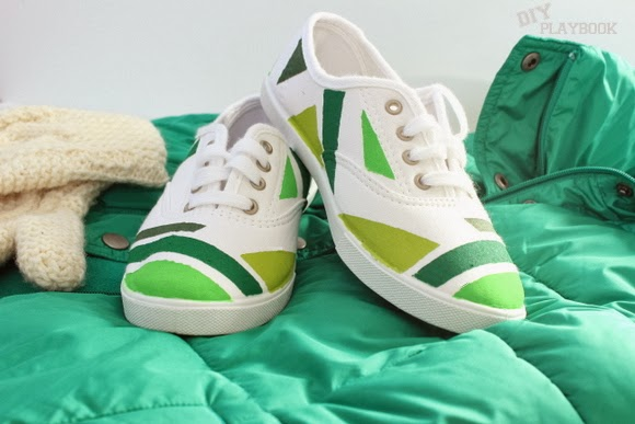Painted Shoes Perfect For St Patrick S Day The Diy Playbook