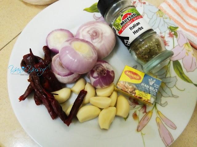 Resepi Seafood Ala Shell Out Homemade  mudah ringkas, Bahan-bahan Resepi Seafood Ala Shell Out Homemade