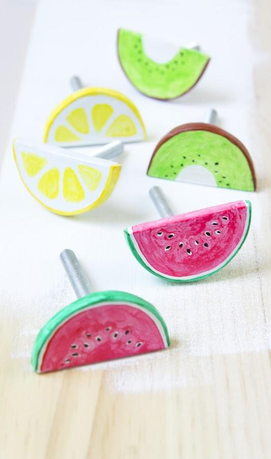 Pomos de frutas diy