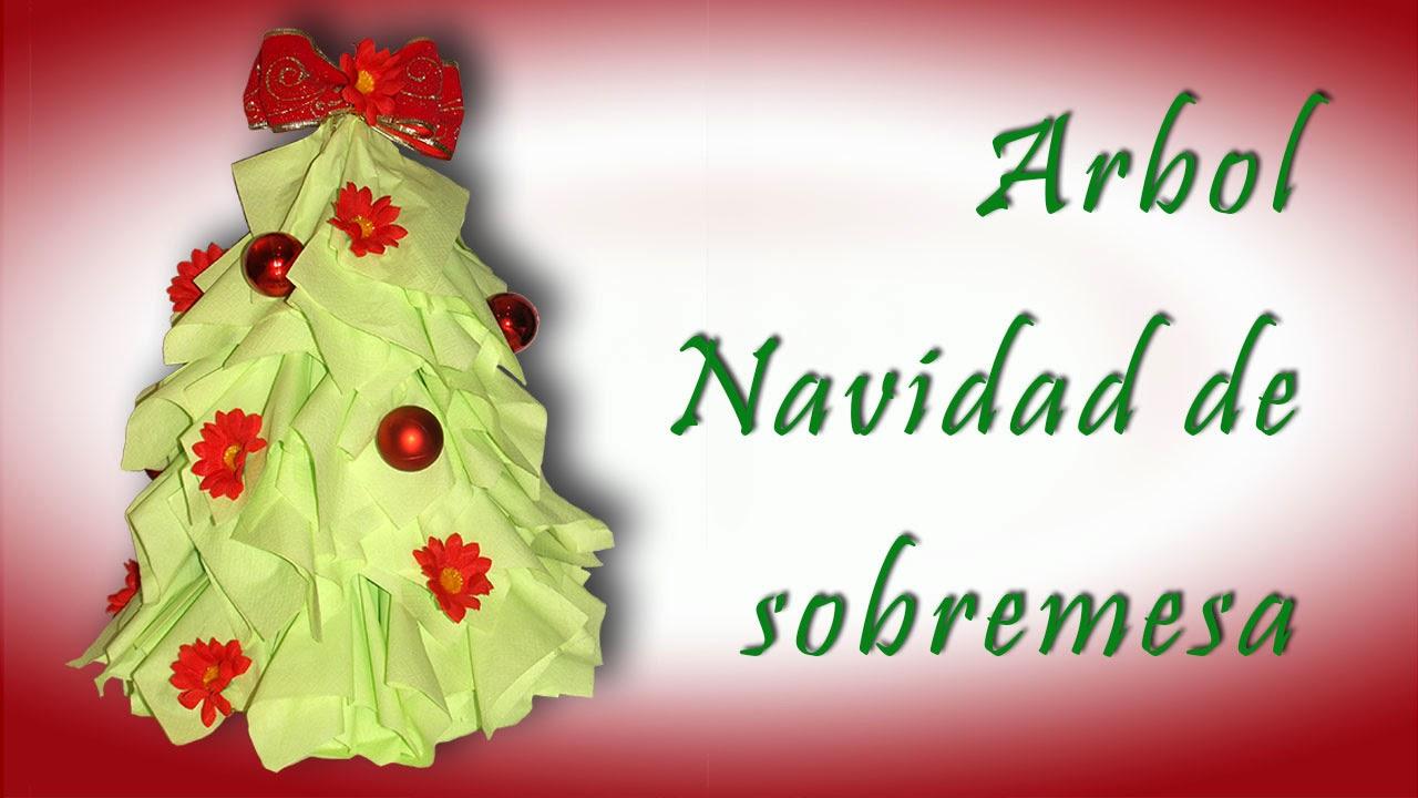 árbol de navidad de sobremesa