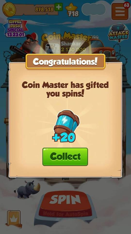 Free Spin Coin Master 50