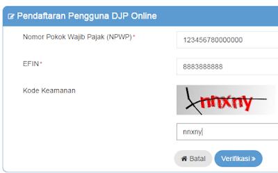 gambar cara daftar di djponline.pajak.go.id